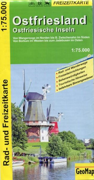Rad- und Freizeitkarte Ostfriesland, Ostfriesische Inseln
