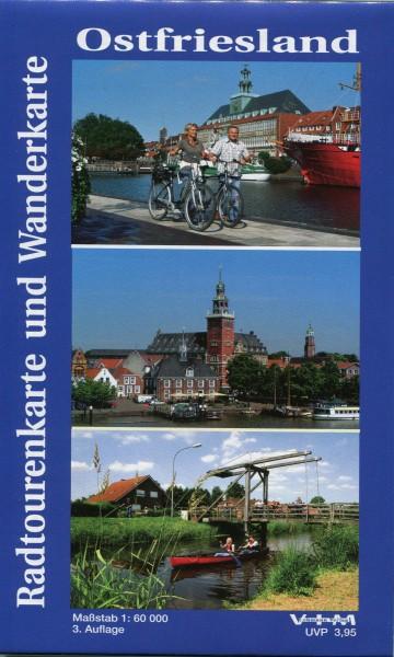 """Radtourenkarte und Wanderkarte """"Ostfriesland"""""""