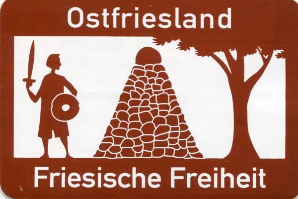 """Aufkleber """"Ostfriesland – Friesische Freiheit"""""""