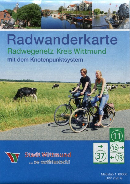 """Radwanderkarte mit Knotenpunktsystem """"Wittmund"""""""