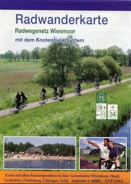 """Radwanderkarte mit Knotenpunktsystem """"Wiesmoor"""""""