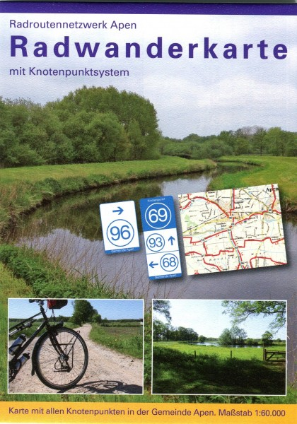 "Radwanderkarte mit Knotenpunktsystem ""Apen"""